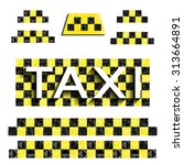 checkers taxi with triangles | Shutterstock .eps vector #313664891