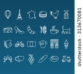 france outline icons | Shutterstock .eps vector #313670081