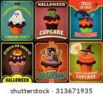 Vintage Halloween Cupcake...