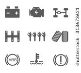 car service icons set | Shutterstock .eps vector #313673621