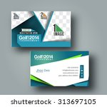 golf club business card vector...
