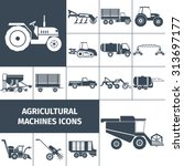 agricultural machinery black... | Shutterstock .eps vector #313697177
