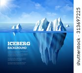 North Sea Poster With Icebergs...