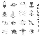 space research science symbols... | Shutterstock .eps vector #313697354