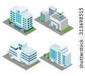 hospital building isometric... | Shutterstock .eps vector #313698515