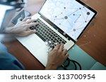 top view of medicine doctor... | Shutterstock . vector #313700954