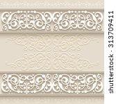illustration of paper border... | Shutterstock .eps vector #313709411