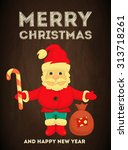 merry christmas greeting card... | Shutterstock . vector #313718261