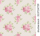 cute seamless shabby chic... | Shutterstock .eps vector #313724759