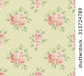cute seamless shabby chic... | Shutterstock .eps vector #313724789