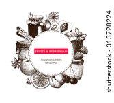 vector design with  ink hand... | Shutterstock .eps vector #313728224