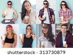 collection of different many... | Shutterstock . vector #313730879