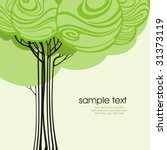 Card Design With Stylized Tree...