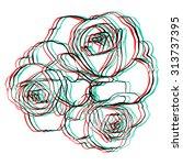 white rose on white background. | Shutterstock .eps vector #313737395