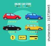 online car store vector... | Shutterstock .eps vector #313738445