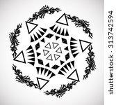 tribal ethnic aztec geometric... | Shutterstock .eps vector #313742594