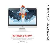 business start up concept... | Shutterstock .eps vector #313743077