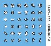 flat line web icons set....