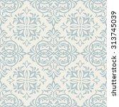 seamless damask pattern   Shutterstock .eps vector #313745039