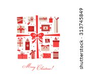 vintage christmas gifts... | Shutterstock .eps vector #313745849