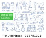 medical hand drawn vector...   Shutterstock .eps vector #313751321