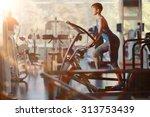 girl gym aerobics workout | Shutterstock . vector #313753439
