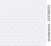 white tiles  ceramic brick ... | Shutterstock .eps vector #313760231