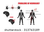 illustration of the nervous... | Shutterstock .eps vector #313763189