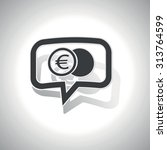 curved chat bubble with coin...
