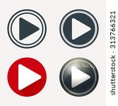 play button icon set in...
