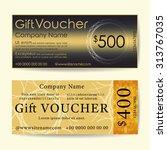 gift voucher template. trendy... | Shutterstock .eps vector #313767035