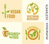 vegetarian food set of vector... | Shutterstock .eps vector #313769474