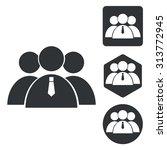 user group icon set  monochrome ...