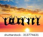 evening celebration friends... | Shutterstock . vector #313774631