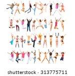 team achievement united... | Shutterstock . vector #313775711