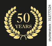 50 years anniversary laurel... | Shutterstock .eps vector #313777124