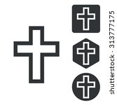christian cross icon set ...
