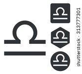 libra icon set  monochrome ...