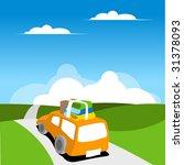 family van moving on road.... | Shutterstock . vector #31378093