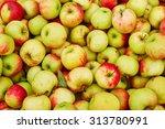 fresh organic apples background | Shutterstock . vector #313780991