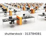 contemporary open space office | Shutterstock . vector #313784081