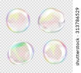 soap bubble. set of... | Shutterstock .eps vector #313786529