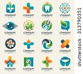 medical logo icons set. icons... | Shutterstock .eps vector #313790351