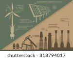 infographics renewable energy.... | Shutterstock .eps vector #313794017