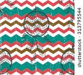 vintage dreamcatcher zig zag... | Shutterstock .eps vector #313795544