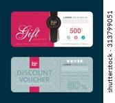 gift voucher template with... | Shutterstock .eps vector #313799051