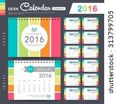 desk calendar 2016 vector... | Shutterstock .eps vector #313799705