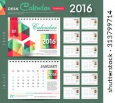 desk calendar 2016 vector... | Shutterstock .eps vector #313799714
