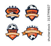 Football logo design , soccer  shield , vector illustration