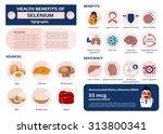 health benefits of selenium... | Shutterstock .eps vector #313800341